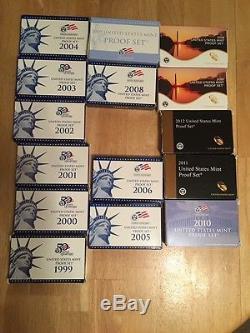 Silver Proof Sets 1992-2015 & 1957-2014 (82 Sets Total) See Photos/Description