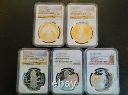 The Queen's Beasts Silver 1 Oz. Pf 70 Perfect Complete Set Of Ten Graded Coins