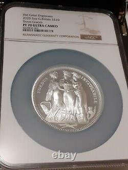 Three Graces 2020 Silver 5 Oz Coin Great Engravers Ngc Graded Pf70 Ultra Cameo