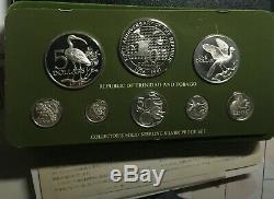 Trinidad & Tobago 8 coins 1981 Silver Proof set