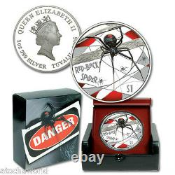 Tuvalu 2006 RED BACK SPIDER Perth Mint. 999 Silver Coin 1oz Deadly and Dangerous