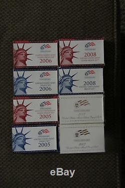 United States Proof Sets Run From 1950 To 2008 76 Sets Lots Of Silver