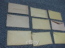 US SILVER Proof Sets 1955 1956 1957 1958 1959 1961 1962 1963 1964 (NINE SETS)