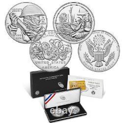 World War I Centennial 2018 Silver Dollar & Medal Set All 5 Sets